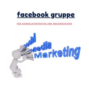 Facebook Gruppe von Profi im Vertrieb